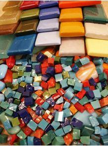 Керамическая мозаичная плитка.