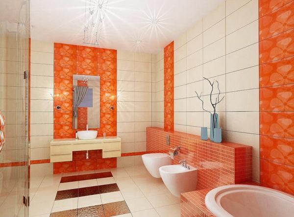 Оранжевая ванная – классика современности