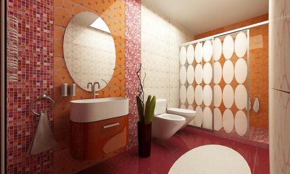 Ванная комната оранжевая – почувствуйте прилив сил
