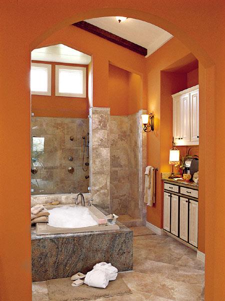 Ванная оранжевая для энергичных людей
