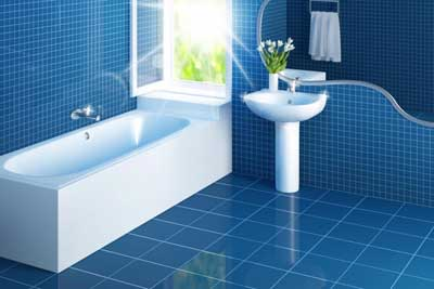 Ванная комната синяя – умиротворение и покой