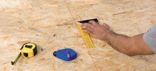 Разметка под укладку плитки на деревянное основание