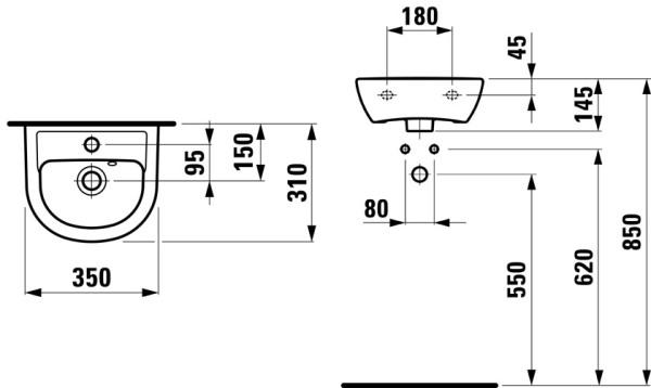Схема монтажа подвесного прибора.