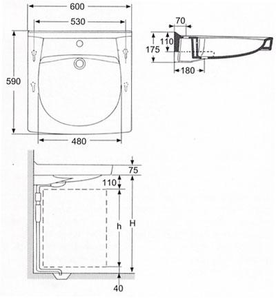 Схема устройства Кувшинки над стиральным механизмом.