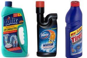 Химические средства для прочистки засоров