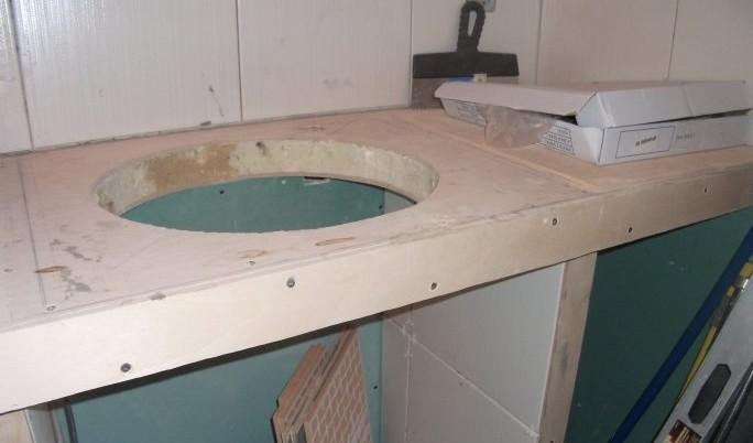 Изготовление тумбочки-столешницы из гипсокартона