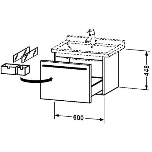 Типовой чертеж подвесного умывальника