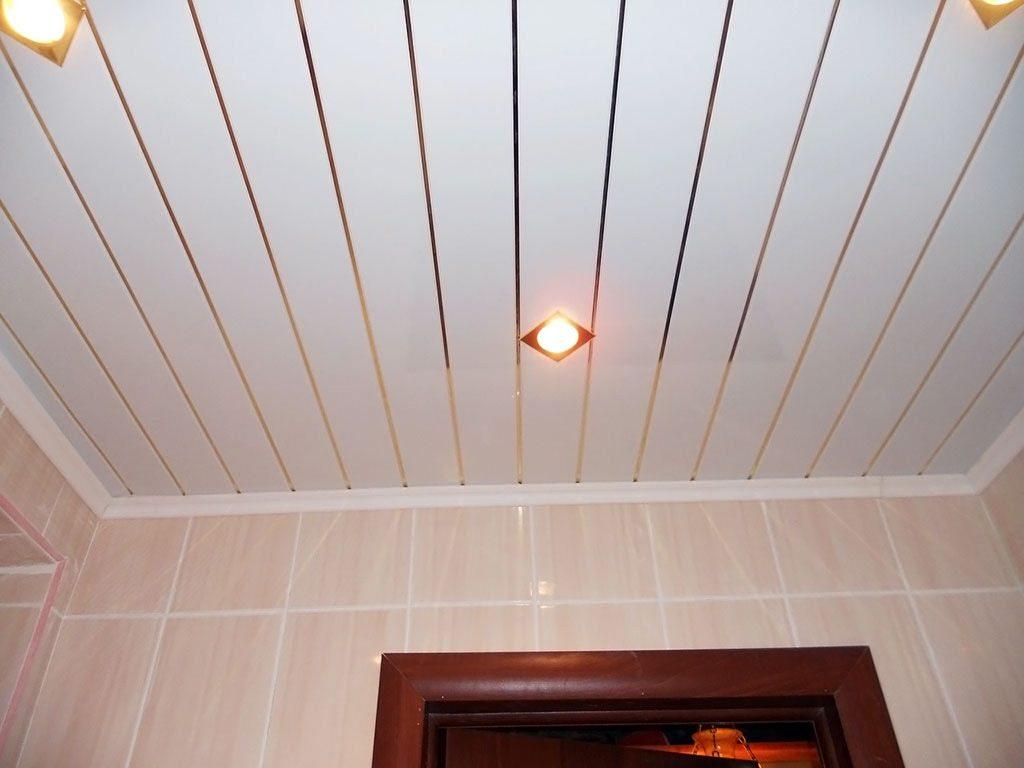 Как сделать реечный потолок в ванной фото 5