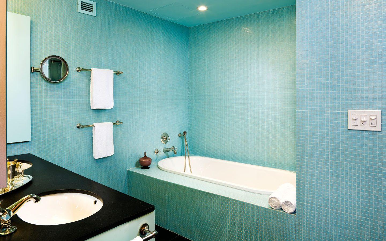 Покраска ванной комнаты своими руками фото 62