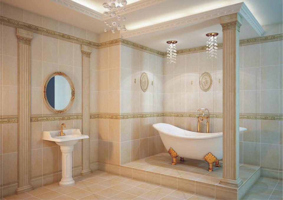 Актуальная плитка для ванной 2015 2016 классический стиль