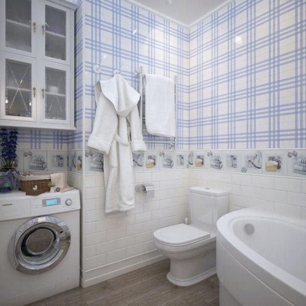 Дизайн ванной комнаты и туалета в маленькой квартире лучше выполнять в светлых оттенках