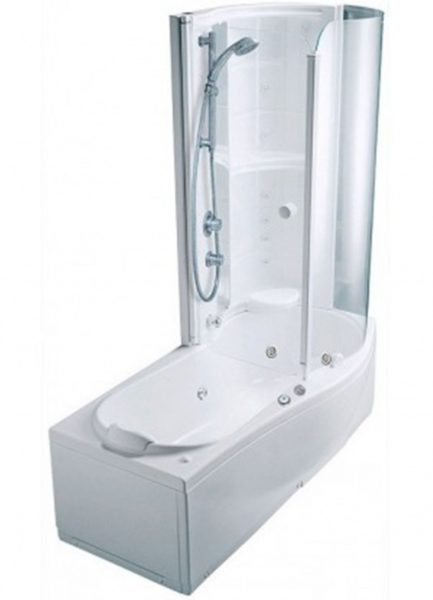 Душевой прибор, совмещенный с ванной.