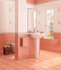 Идеальный вид ванной, после успешной облицовки помещения кафельной плиткой.