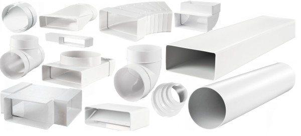 Из этих компонентов можно собрать вентиляционный канал практически любой конфигурации