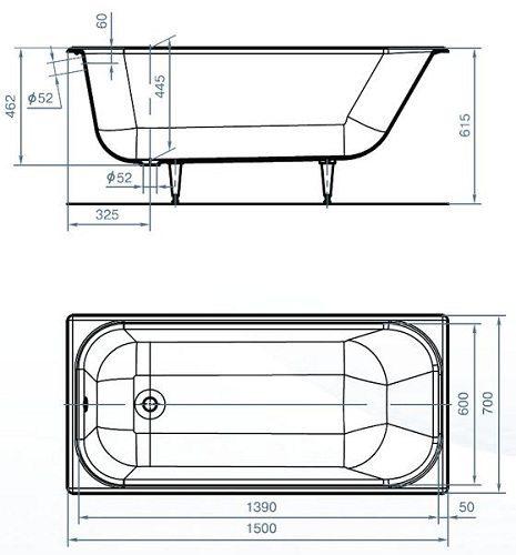 Сидячая ванна для маленьких ванных комнат