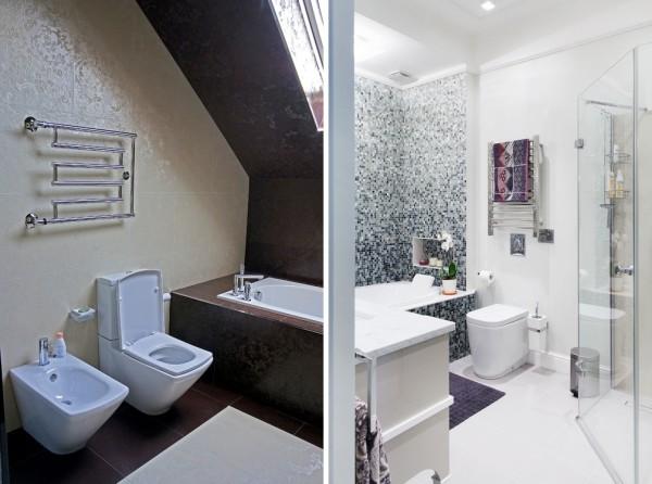 Классическая лесенка-сушилка для белья для ванной комнаты