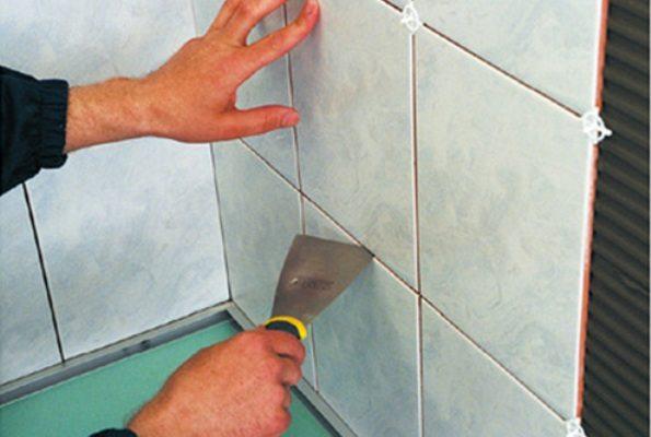Корректировка расположения плитки и ширины шва