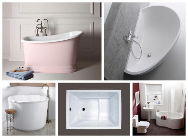 Миниатюрная купель идеально вписывается в небольшую ванную комнату.