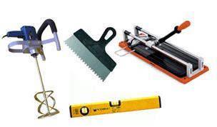 Минимальный набор инструментов для укладки плитки