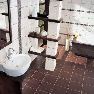 Плитка для пола в ванной (42 фото): как положить, сделать укладку напольной плитки, как класть и какую краску использовать