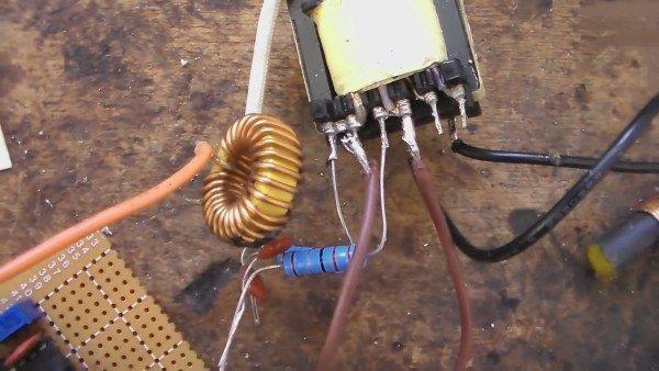 Подключение к пятивольтовой обмотке трансформатора