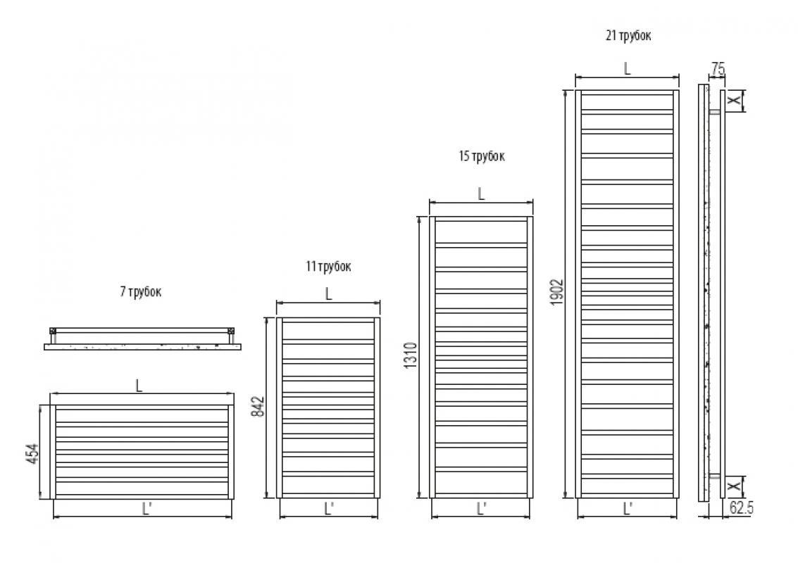 Прием «размерной сетки» Irsap TLS052 Tole