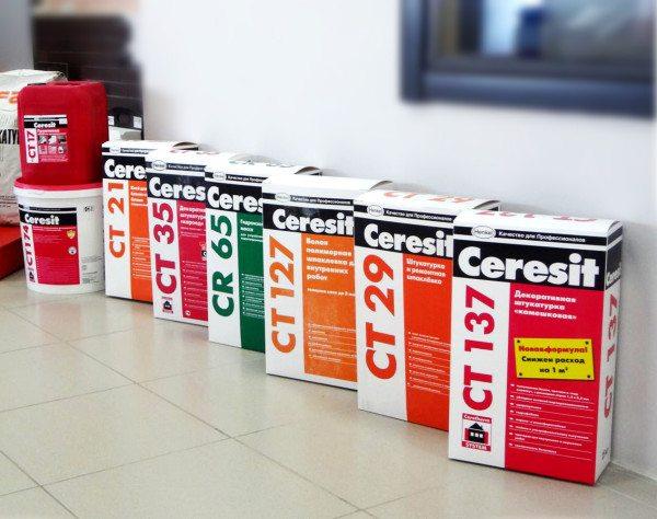 Сегодня лидерами рынка являются клеевые составы от Ceresit