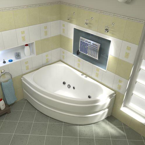 Угловая модель ванны Басс